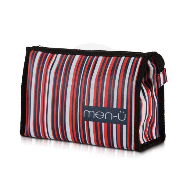 Stripes Toiletry Bag - Blue Red White